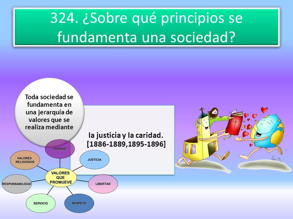 324. ¿Sobre qué principios se fundamenta una sociedad