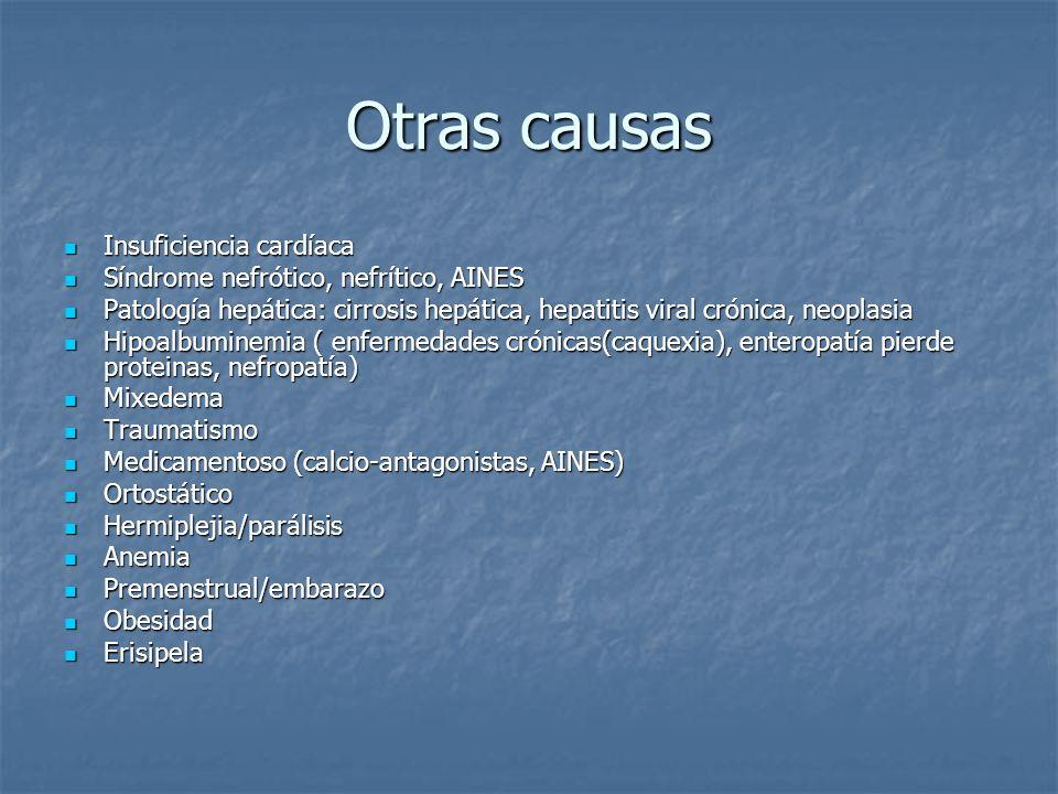 Otras causas Insuficiencia cardíaca