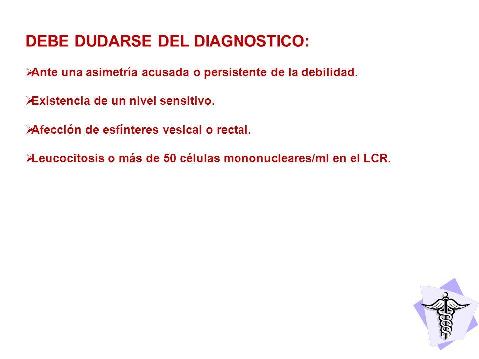 DEBE DUDARSE DEL DIAGNOSTICO: