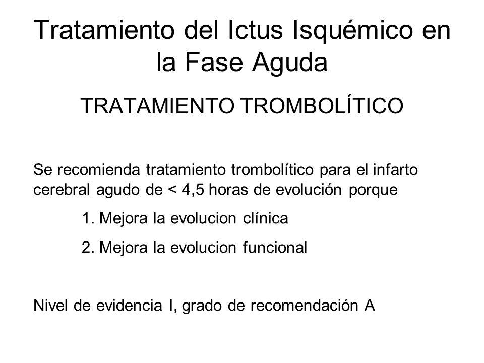 Tratamiento del Ictus Isquémico en la Fase Aguda