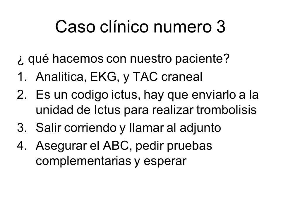 Caso clínico numero 3 ¿ qué hacemos con nuestro paciente