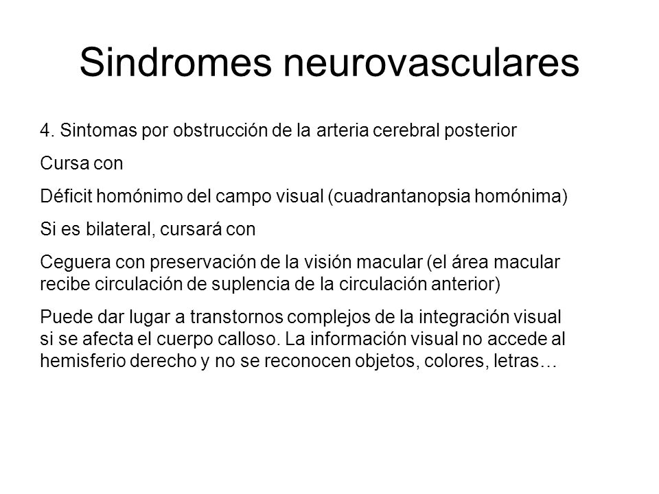 Sindromes neurovasculares