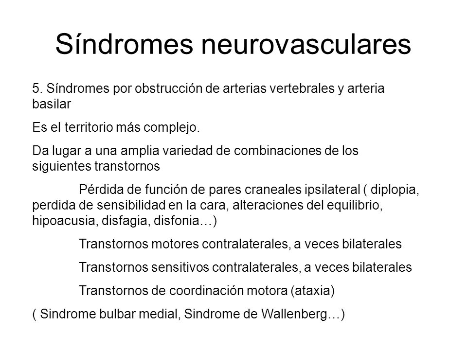 Síndromes neurovasculares