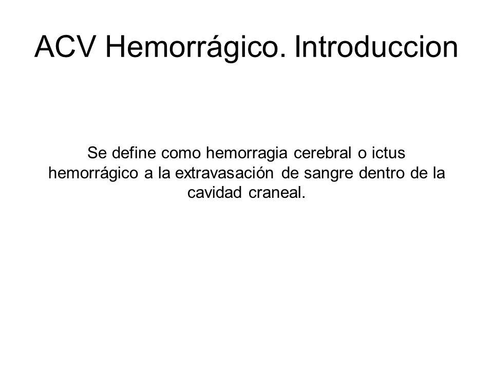 ACV Hemorrágico. Introduccion