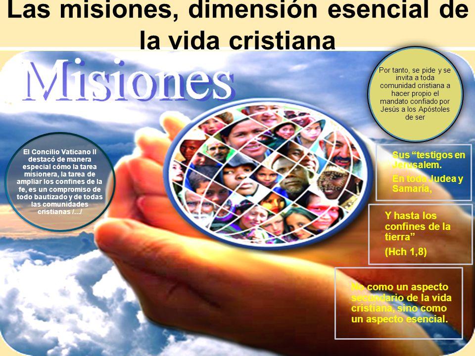 Las misiones, dimensión esencial de la vida cristiana