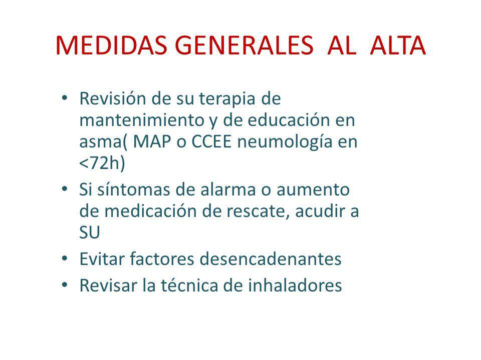 MEDIDAS GENERALES AL ALTA
