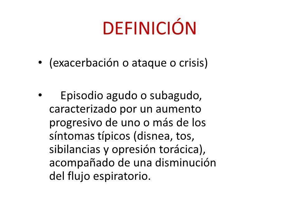 DEFINICIÓN (exacerbación o ataque o crisis)