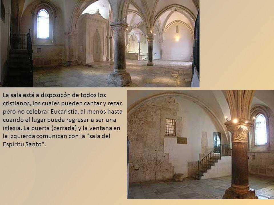 La sala está a disposicón de todos los cristianos, los cuales pueden cantar y rezar, pero no celebrar Eucaristía, al menos hasta cuando el lugar pueda regresar a ser una iglesia.
