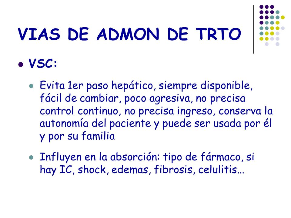 VIAS DE ADMON DE TRTO VSC: