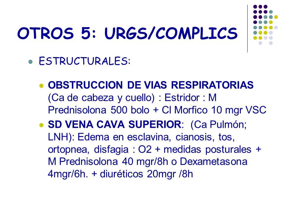 OTROS 5: URGS/COMPLICS ESTRUCTURALES: