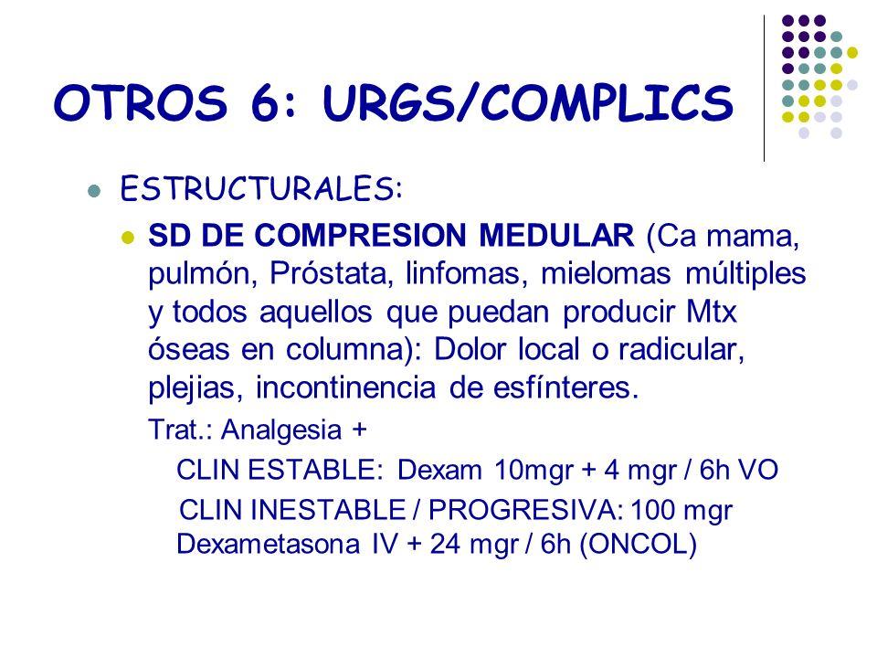 OTROS 6: URGS/COMPLICS ESTRUCTURALES: