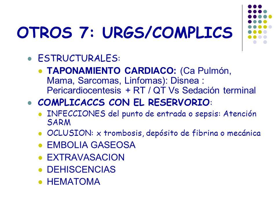 OTROS 7: URGS/COMPLICS ESTRUCTURALES: