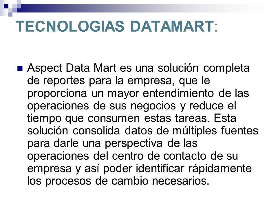 TECNOLOGIAS DATAMART: