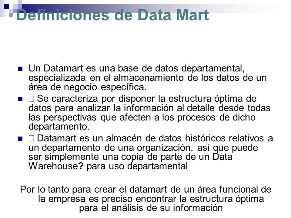 Definiciones de Data Mart