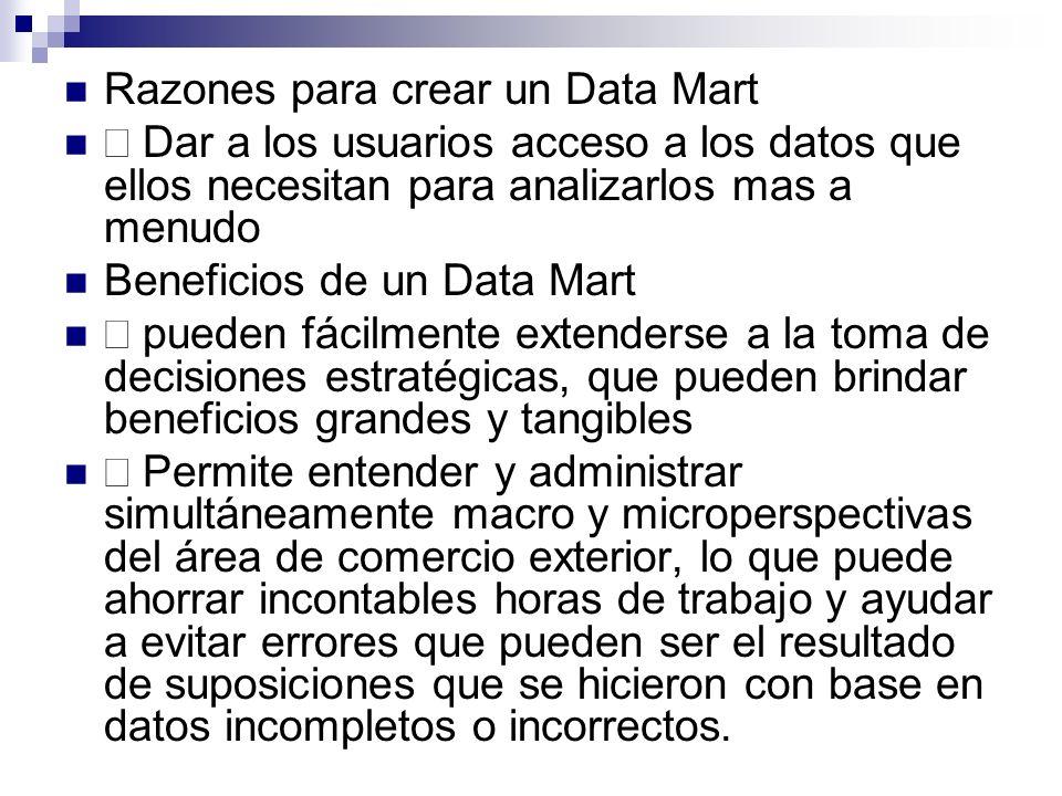 Razones para crear un Data Mart