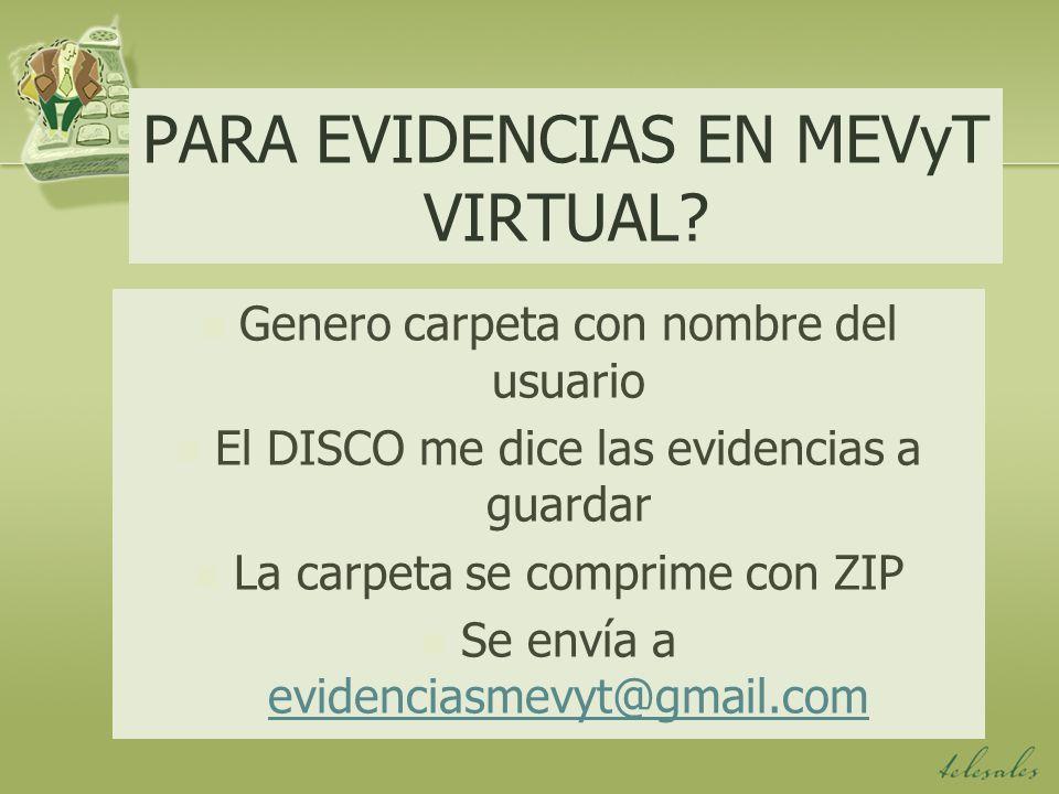 PARA EVIDENCIAS EN MEVyT VIRTUAL