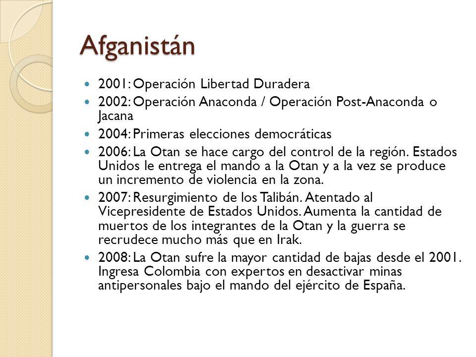 Afganistán 2001: Operación Libertad Duradera