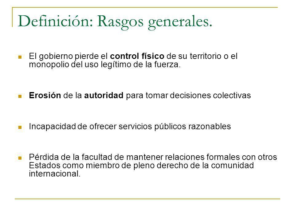 Definición: Rasgos generales.
