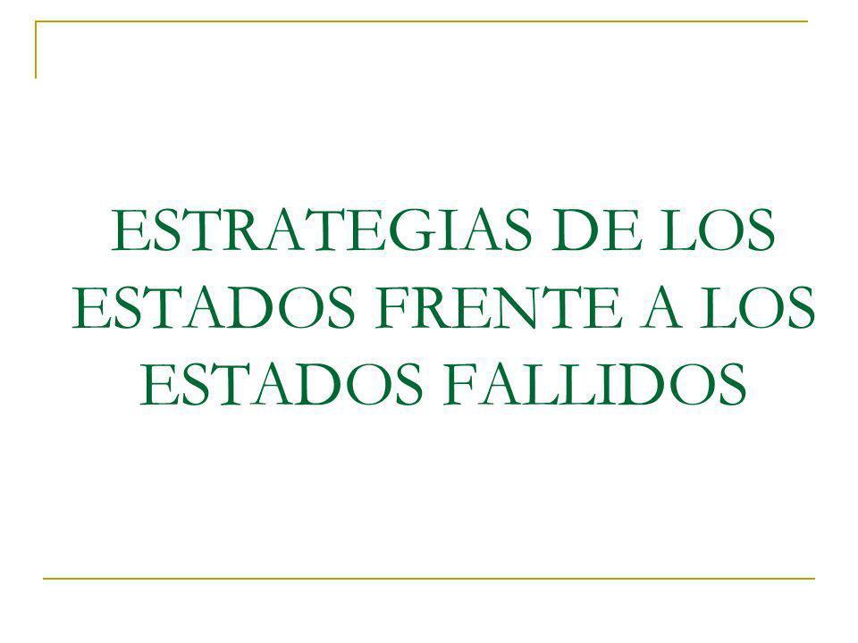 ESTRATEGIAS DE LOS ESTADOS FRENTE A LOS ESTADOS FALLIDOS