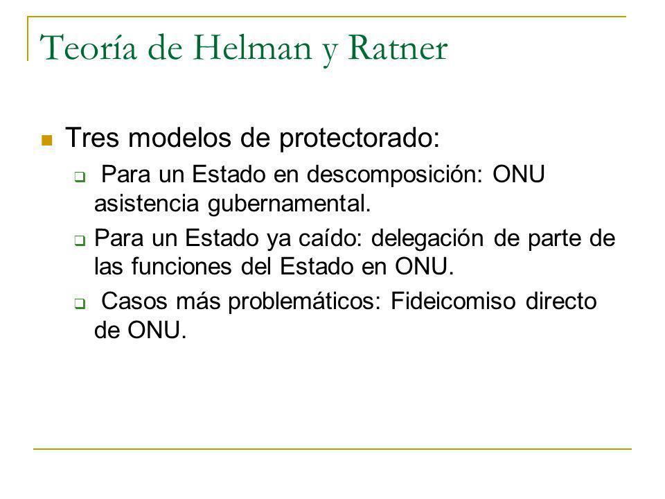 Teoría de Helman y Ratner