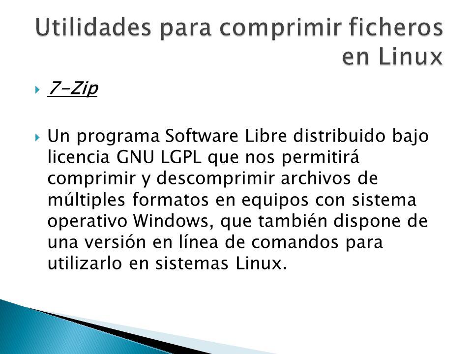 Utilidades para comprimir ficheros en Linux