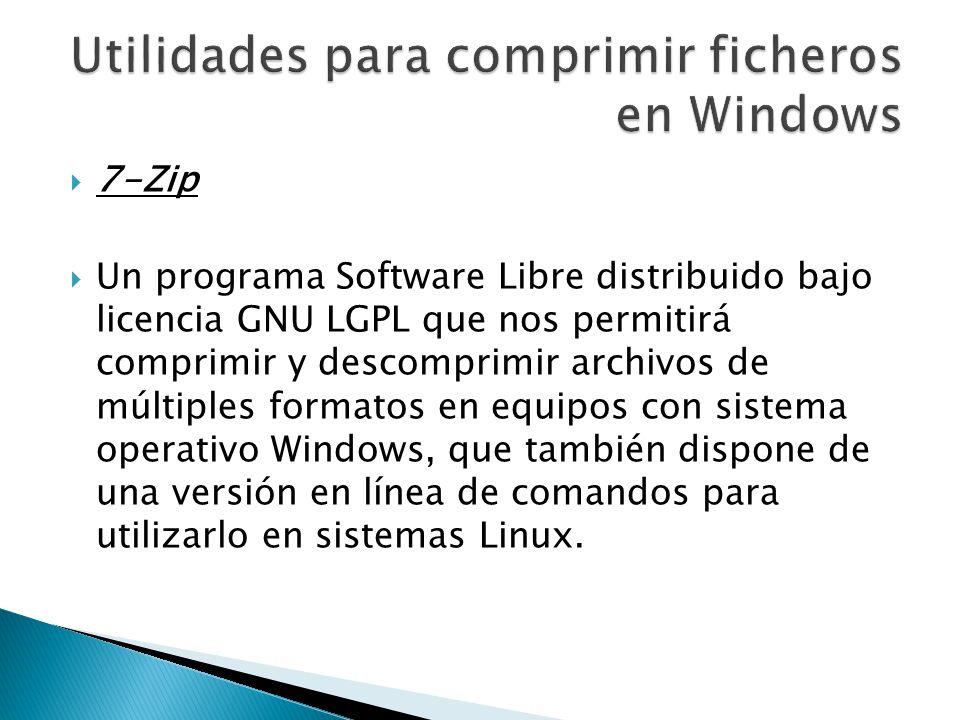 Utilidades para comprimir ficheros en Windows
