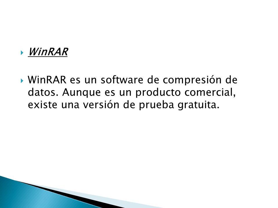 WinRAR WinRAR es un software de compresión de datos.