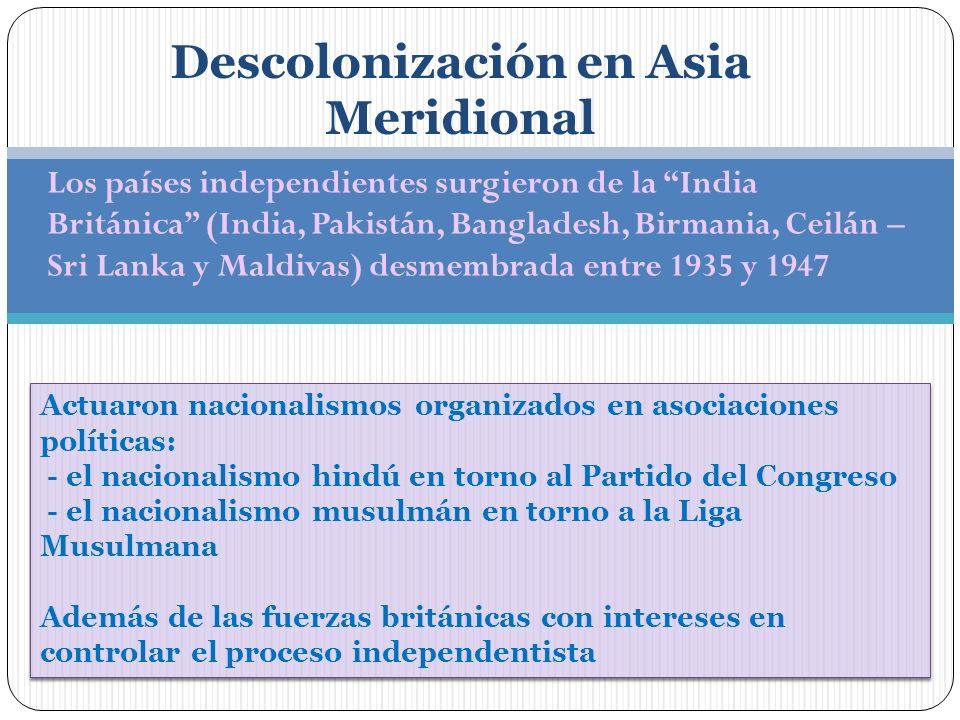 Descolonización en Asia Meridional