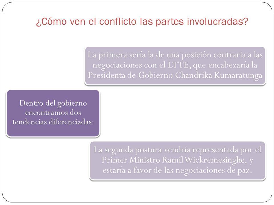 ¿Cómo ven el conflicto las partes involucradas