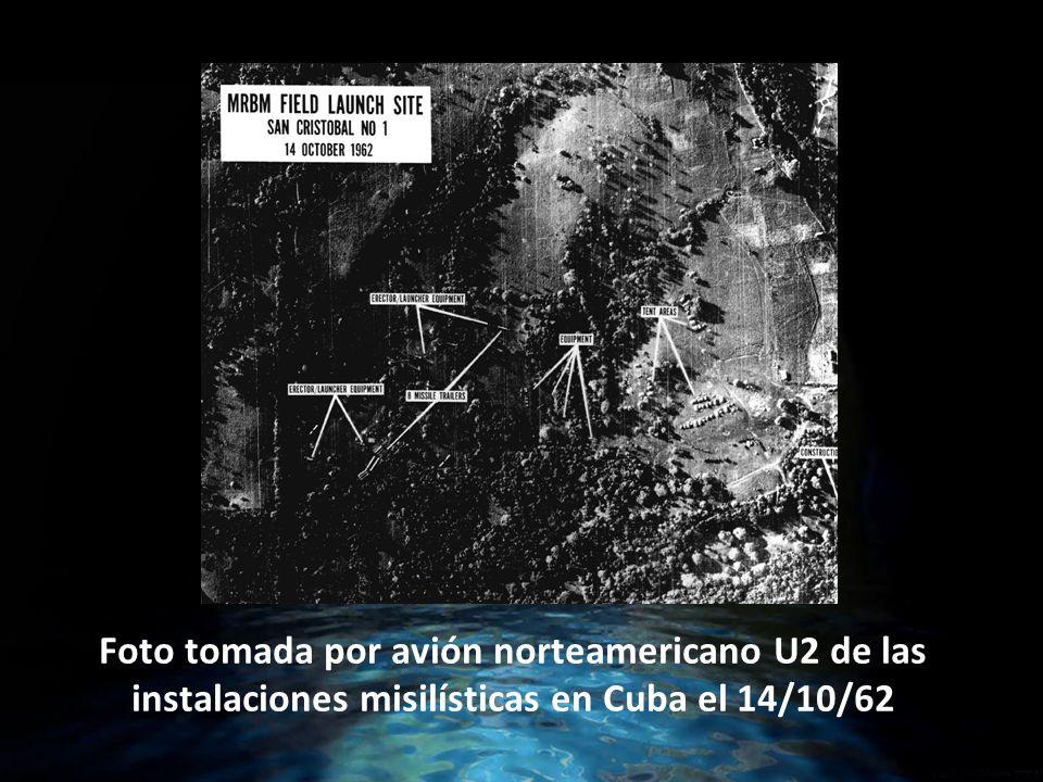 Foto tomada por avión norteamericano U2 de las instalaciones misilísticas en Cuba el 14/10/62