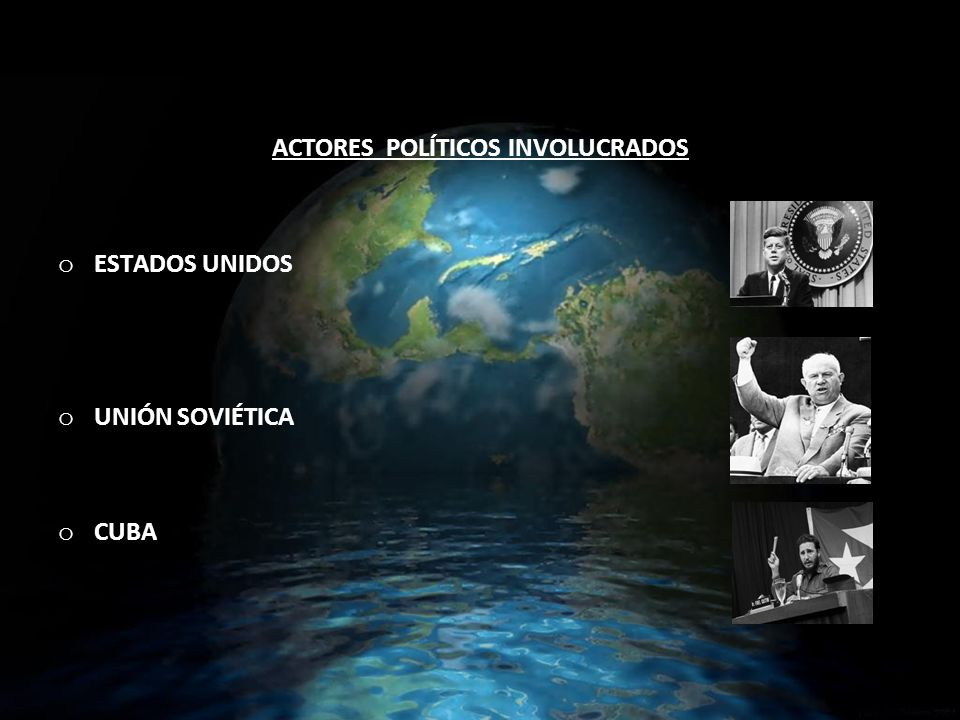 ACTORES POLÍTICOS INVOLUCRADOS
