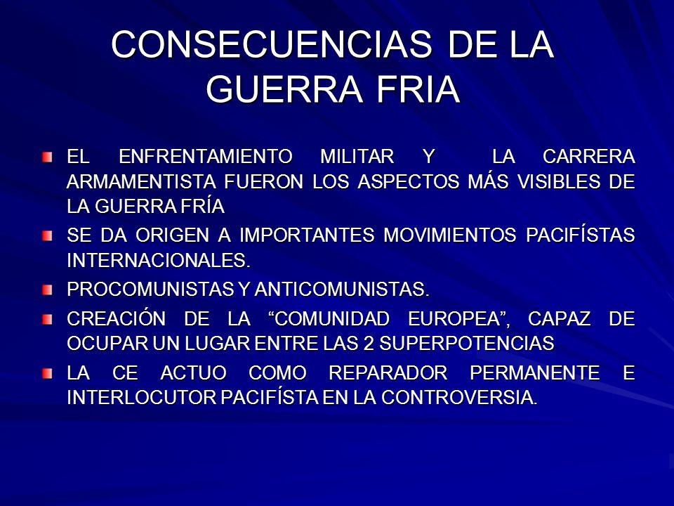 CONSECUENCIAS DE LA GUERRA FRIA