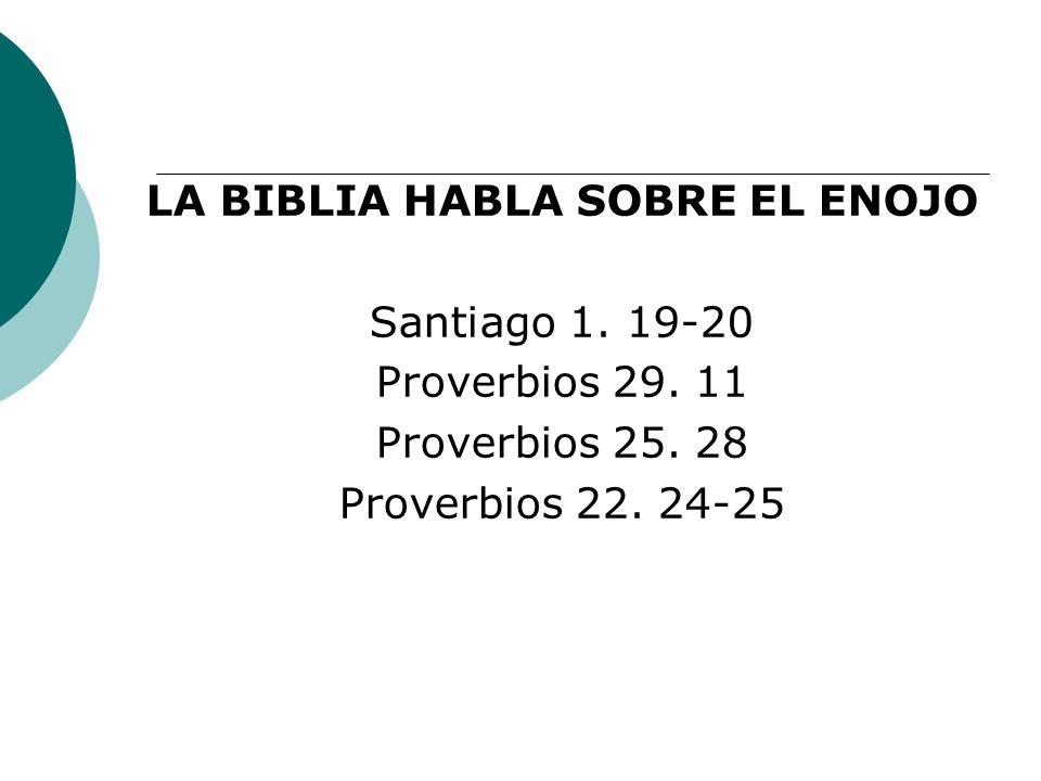 LA BIBLIA HABLA SOBRE EL ENOJO