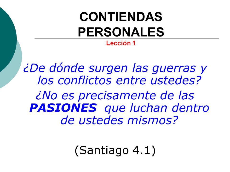 CONTIENDAS PERSONALES Lección 1