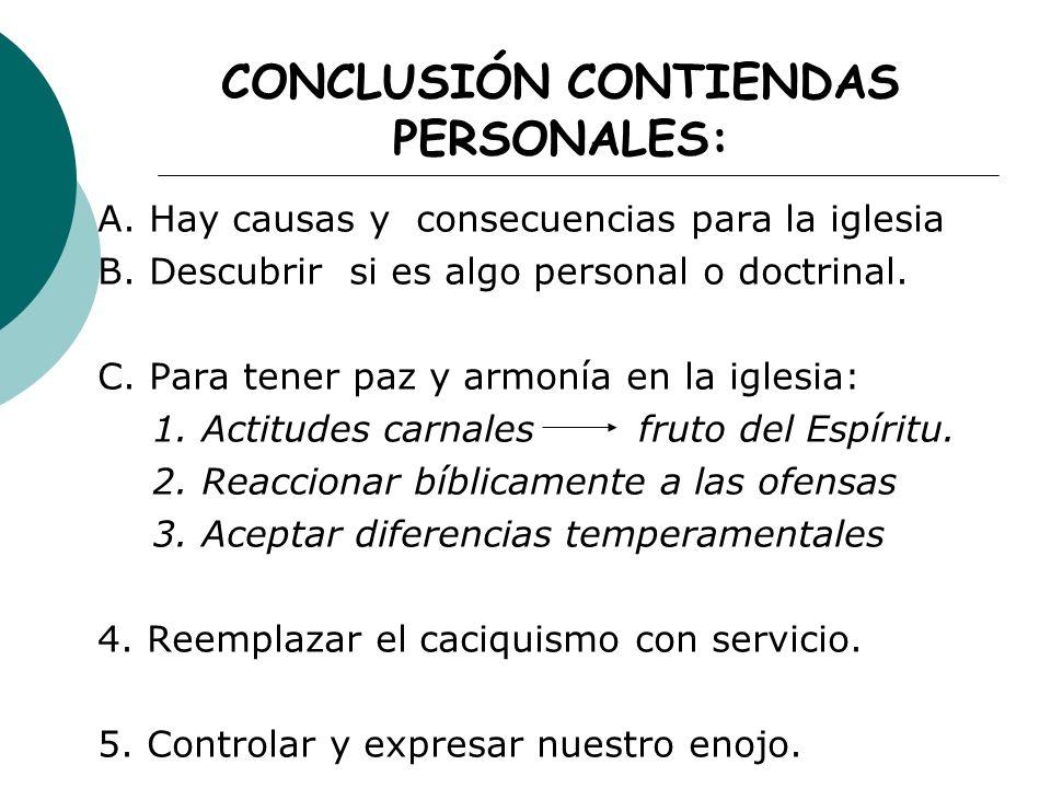 CONCLUSIÓN CONTIENDAS PERSONALES: