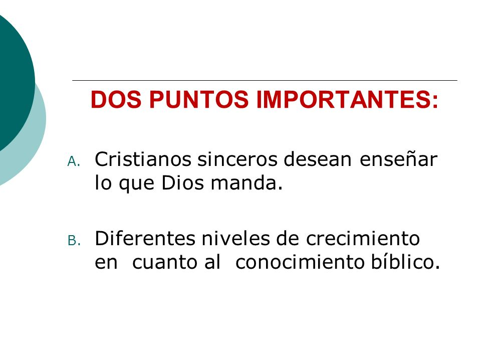 DOS PUNTOS IMPORTANTES: