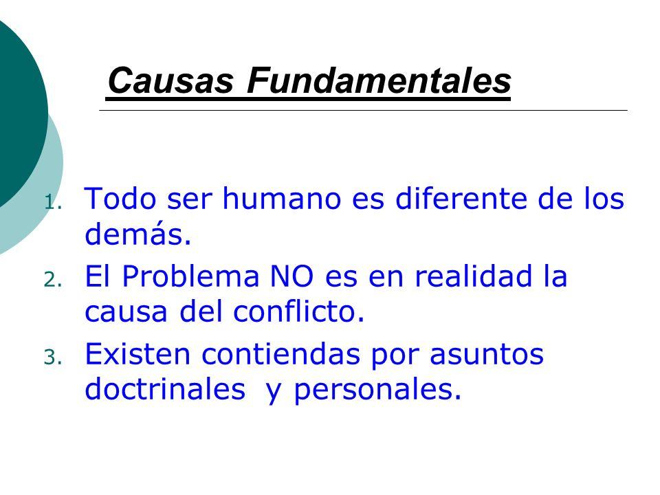 Causas Fundamentales Todo ser humano es diferente de los demás.