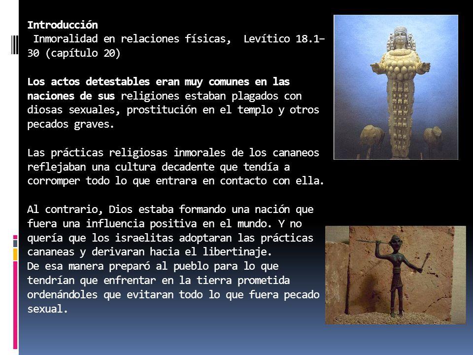 Introducción Inmoralidad en relaciones físicas, Levítico 18