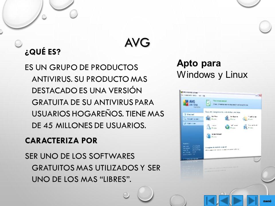 AVG Apto para Windows y Linux