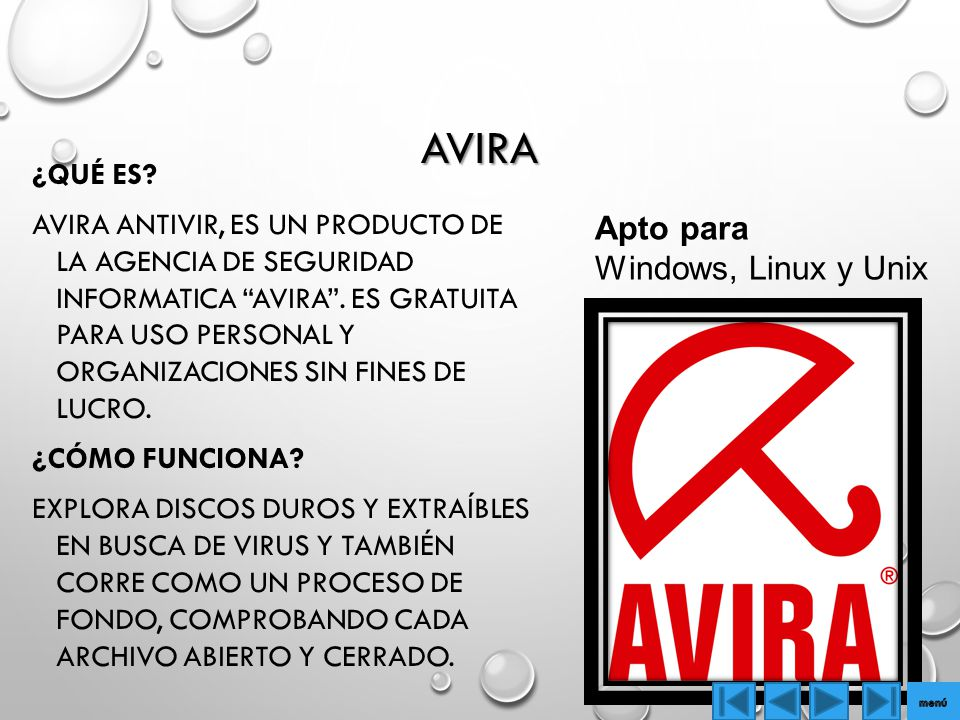 Avira Apto para Windows, Linux y Unix