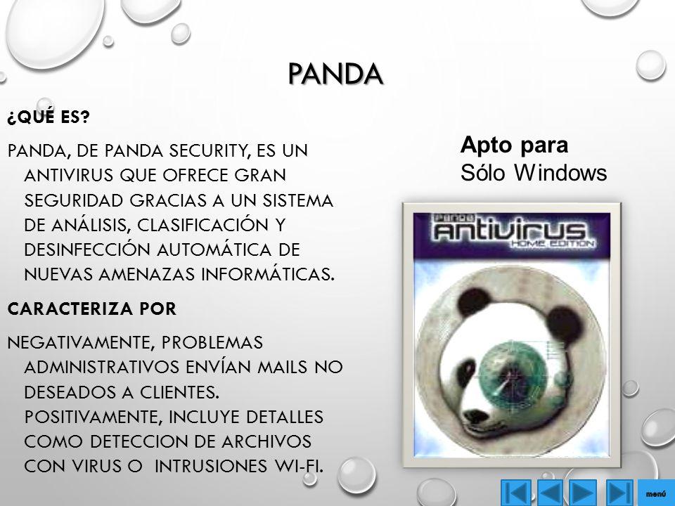 Panda Apto para Sólo Windows