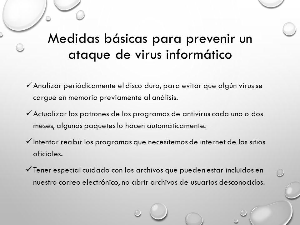 Medidas básicas para prevenir un ataque de virus informático