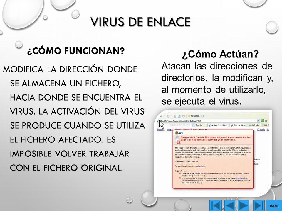 Virus de Enlace ¿Cómo funcionan ¿Cómo Actúan