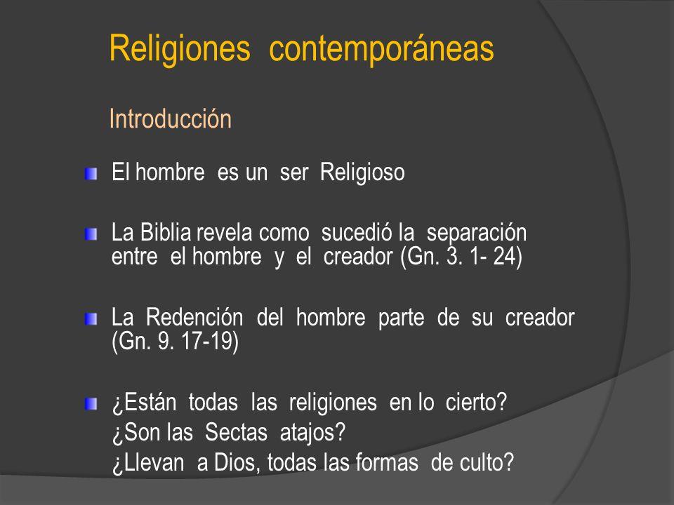 Religiones contemporáneas Introducción
