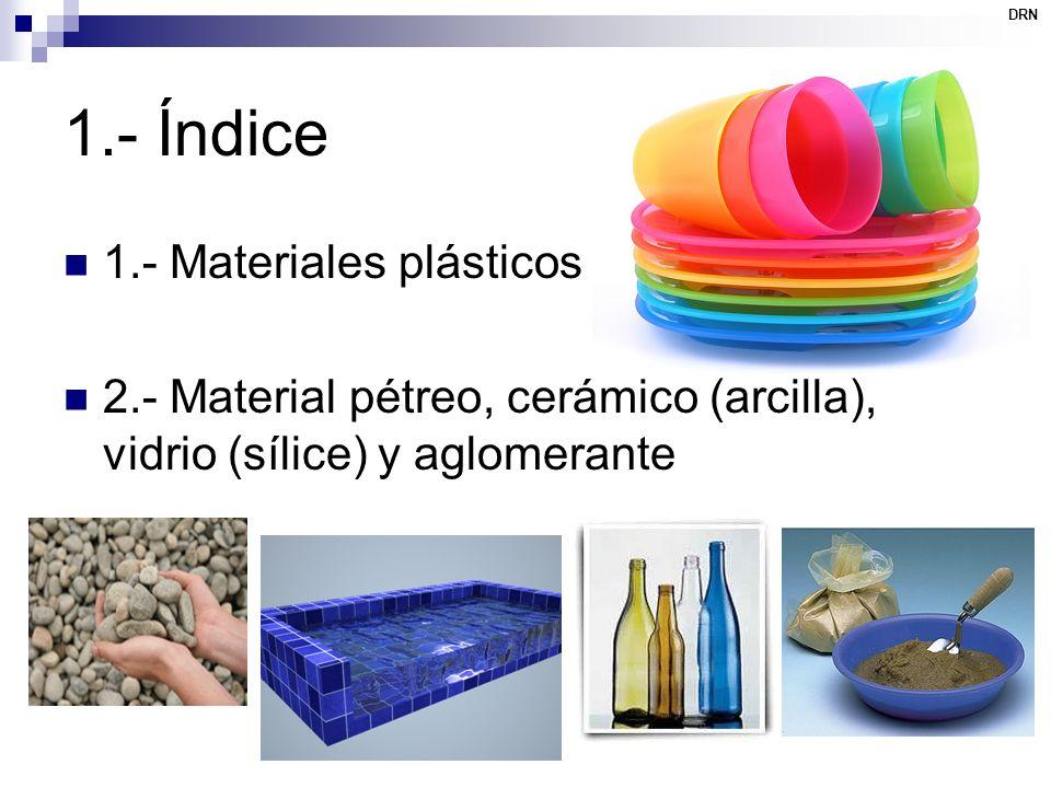 1.- Índice 1.- Materiales plásticos