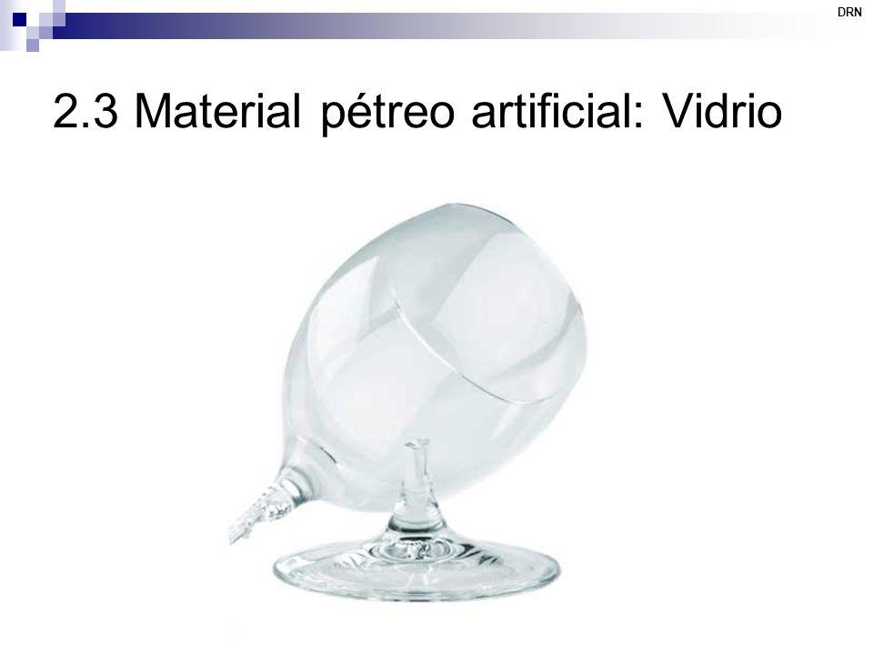 2.3 Material pétreo artificial: Vidrio
