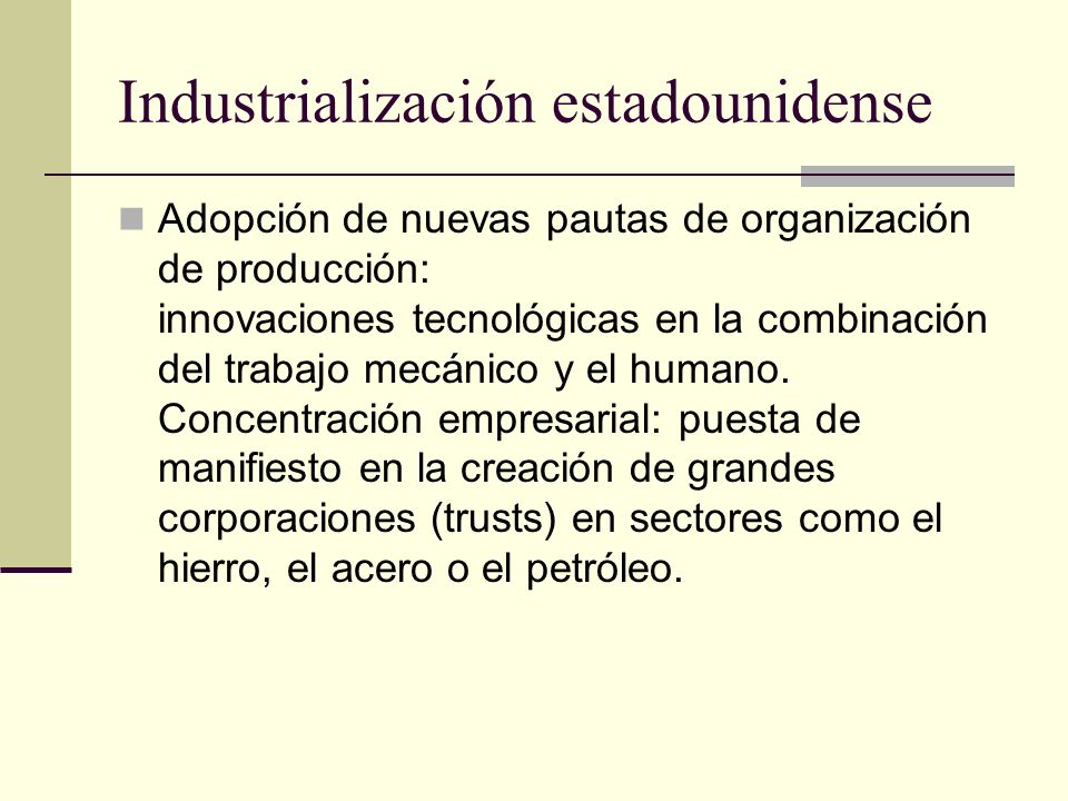 Industrialización estadounidense