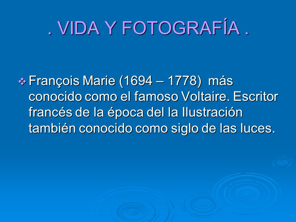 . VIDA Y FOTOGRAFÍA .