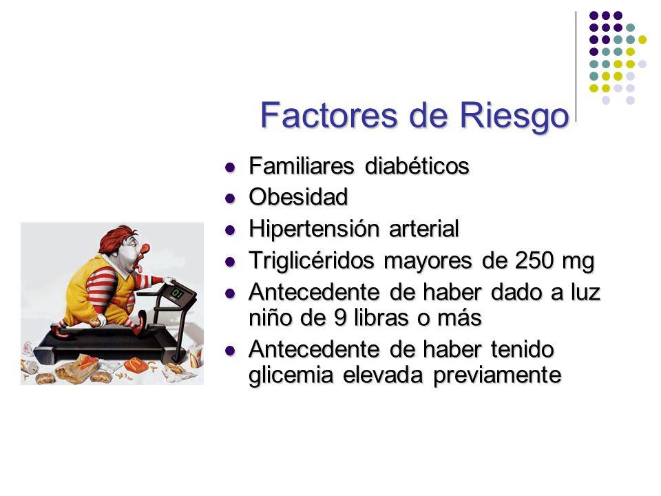 Factores de Riesgo Familiares diabéticos Obesidad