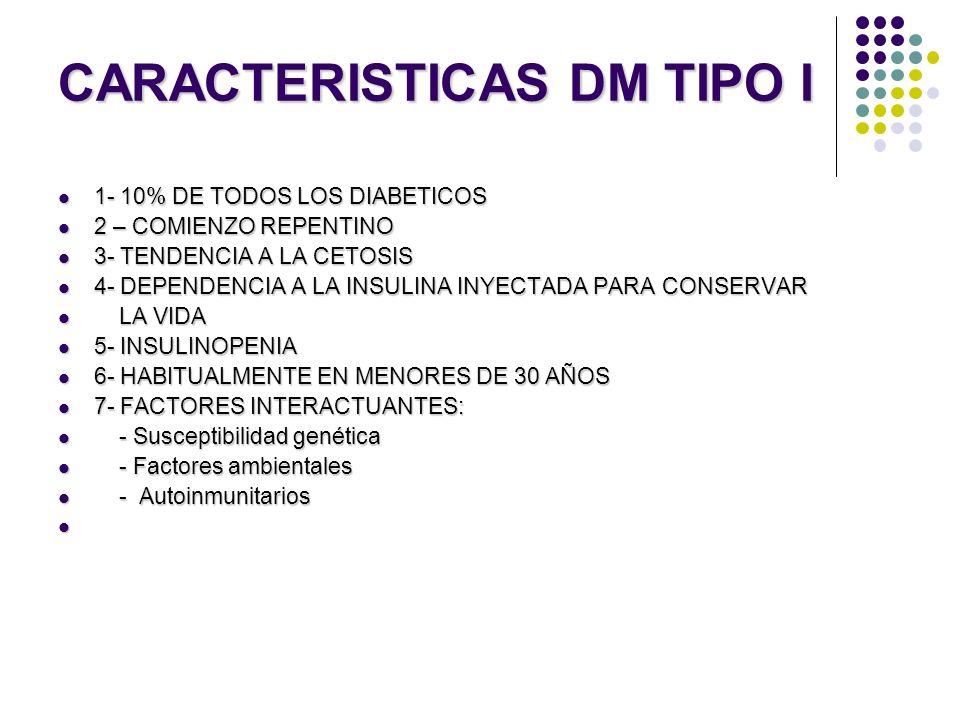 CARACTERISTICAS DM TIPO I